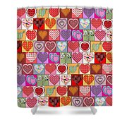Heart Patches Shower Curtain