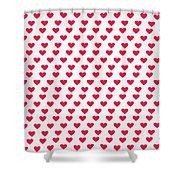 Heart Patterns Shower Curtain