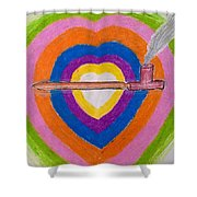 Heart Pipe Shower Curtain