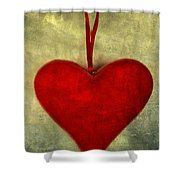 Heart Shape Shower Curtain
