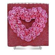 Heart-shaped Floral Arrangement Shower Curtain