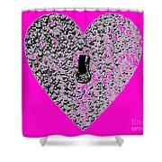 Heart Shaped Lock - Pink Shower Curtain