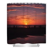 Heart Shaped Sunset In Brazil Shower Curtain
