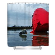 Heart Shell And Sound 1 2/10 Shower Curtain