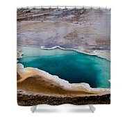 Heart Spring Yellowstone National Park Shower Curtain