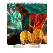 Heart Strong Quote Shower Curtain