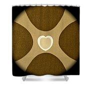 Heart Three Shower Curtain