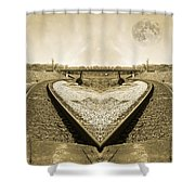Heart Tracks Shower Curtain