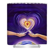 Heart Unity Shower Curtain