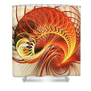 Heart Wave Shower Curtain