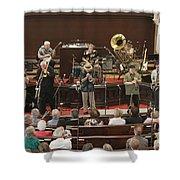 Heartbeat Dixieland Jazz Band Shower Curtain
