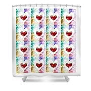 Heartful 2 Shower Curtain