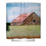 Heartland Barn Shower Curtain