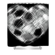Heartline 10 Shower Curtain by Will Borden