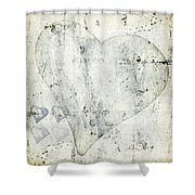 Hearts 13 Square Shower Curtain