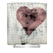 Hearts 21 Square Shower Curtain