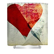 Hearts 6 Square Shower Curtain
