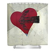 Hearts 7 Square Shower Curtain