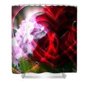 Hearts A Fire Shower Curtain