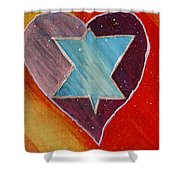 Hearts And Stars Forever Shower Curtain