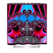 Hearts Ballet Curtain Call Fractal 121 Shower Curtain