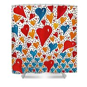 Hearts For You Shower Curtain