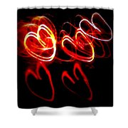 Hearts In Color Shower Curtain