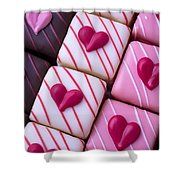 Hearts On Candy Shower Curtain