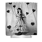 Hearts With Strings Attached Shower Curtain