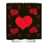 Hearty Delight Shower Curtain