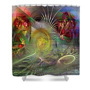 Heat Wave - Square Version Shower Curtain