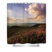 Heather Sunset Shower Curtain