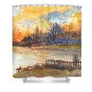 The Serene Sunset Shower Curtain