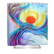Heaven Sent Digital Art Painting Shower Curtain