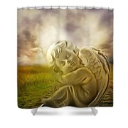 Heavenly Angels Vintage Shower Curtain