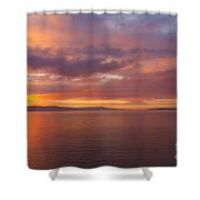 Heavenly Fire Shower Curtain by Heiko Koehrer-Wagner