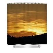Heavenly Gold Sunset Shower Curtain