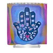 Heavenly Hamza 1 Shower Curtain