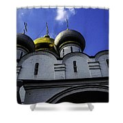 Heavenly Look - Moscow - Russia Shower Curtain