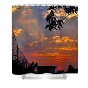 Heavenly Rays Two Shower Curtain