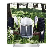 Heavenly Tractor Shower Curtain