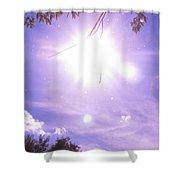 Heavens Blue  Shower Curtain