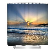 Heaven's Door Shower Curtain by Debra and Dave Vanderlaan