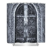 Heaven's Gate Bw Shower Curtain