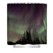 Heavens Lights Shower Curtain by Priska Wettstein