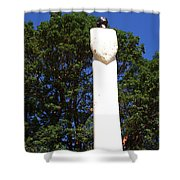 Heavenward Gaze - Sculpture - Lady Shower Curtain