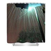 Heavy Evening Snow Shower Curtain