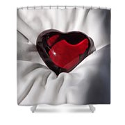Heavy Heart Shower Curtain