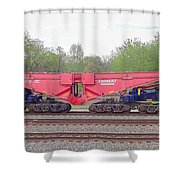 Heavy Lift 1m Pound Capacity Schnabel Railcar By Emmert International Shower Curtain