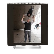 Heavy Lifting Shower Curtain